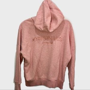 Adidas originals pink zip up hoodie Sz m